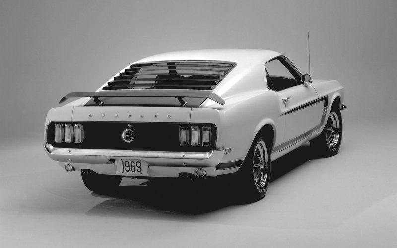 Wallpaper 1969 Ford Mustang Boss 302 White Rear 1969 Ford Mustang Ford Mustang Boss 302 Ford Mustang