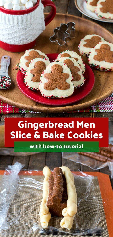 Gingerbread Men Slice N' Bake Cookies