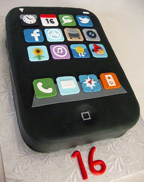 iPhone Sweet Sixteen cake Sweet sixteen cakes Sweet sixteen and