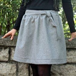 afa320c9842 Use this free skirt pattern to create a beautiful wool skirt for this  winter.