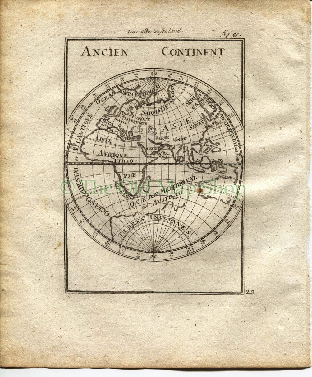 Map Netherlands 1719 Manesson Mallet France; Pais-Bas Pays-Bas Antique Print published by Johann Adam Jung