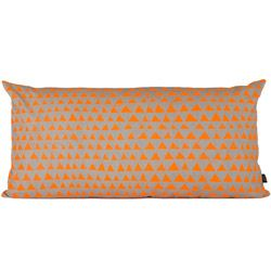 Buy a pillow, cut a stam out of a potato and choose a colour. Now simply stamp!