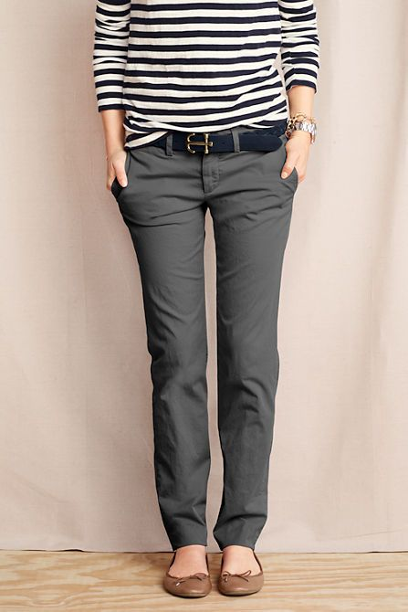 bffdf7925a5f5 Women s True Slim Chinos from Lands  End