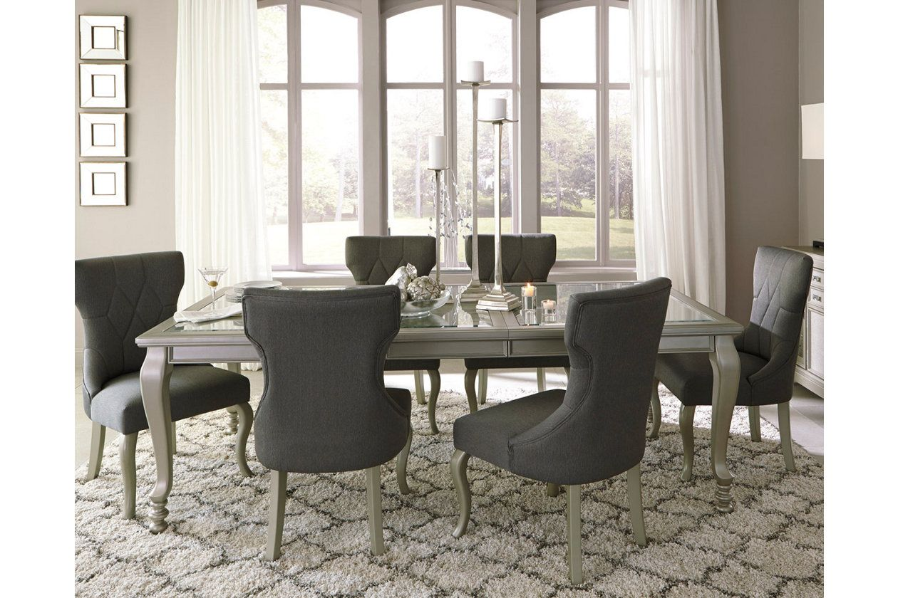 Love This Glamorous Dining Room  Dream Home  Pinterest  Room Best Ashley Dining Room Table Set Decorating Design