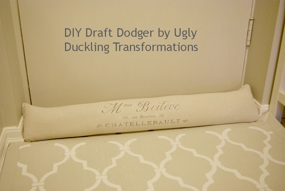Diy Draft Dodger Dodgers Ugly Duckling And Draft Stopper