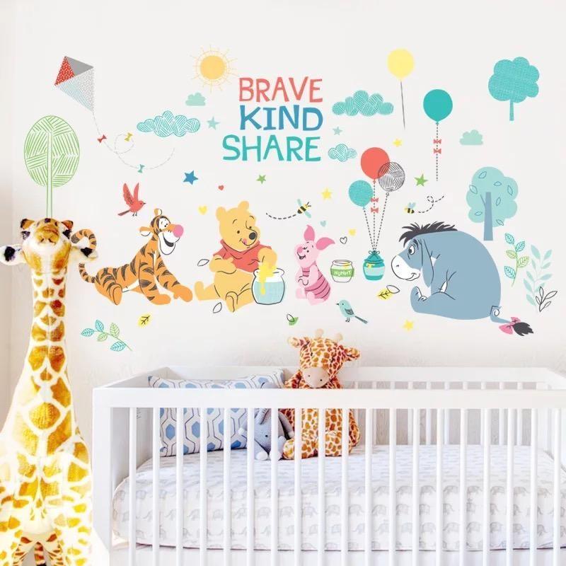 Winnie the Pooh Nursery Room Wall Decal Decor Sticker Kids Baby BedroomFREE SHIP