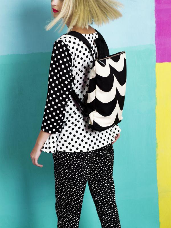 Kaski trousers, Kampi T-shirt, Lumme backpack / Marimekko S/S 14