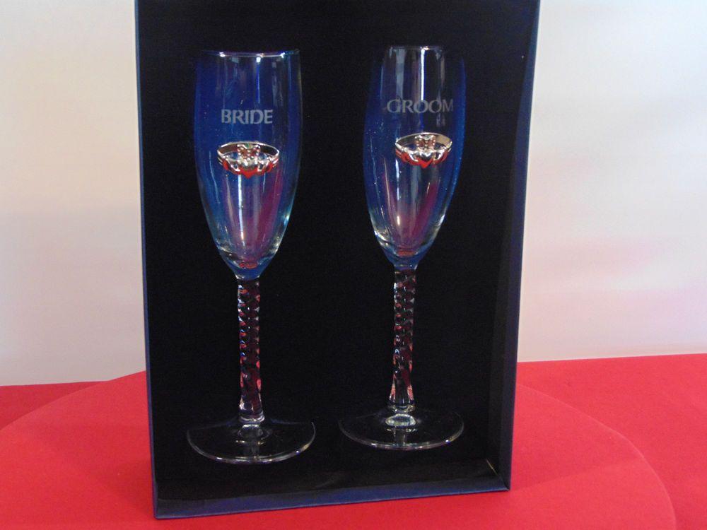 Cladagh Wedding Day Champagne Flute Ireland