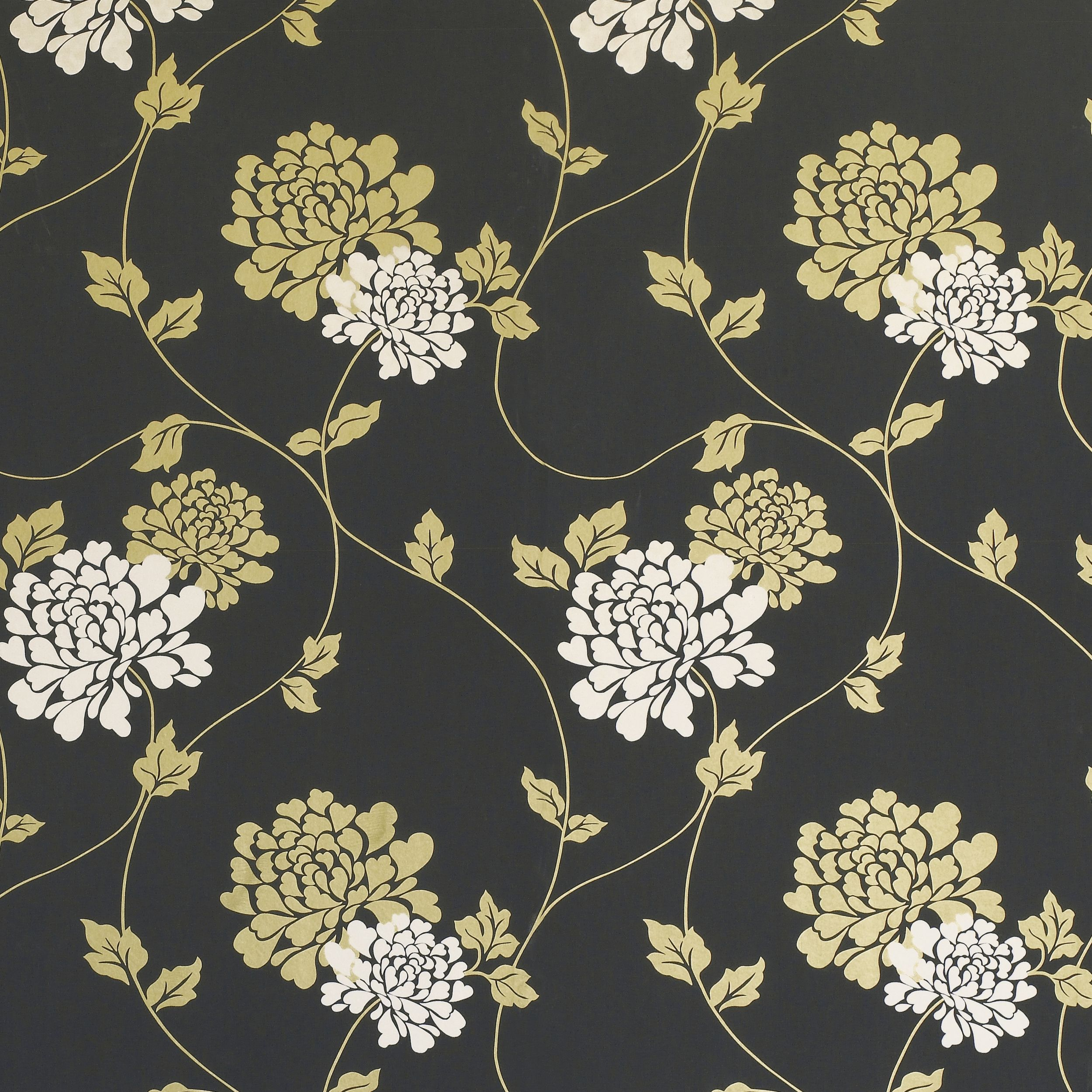 Isodore Charcoal/Bronze Floral Wallpaper Floral