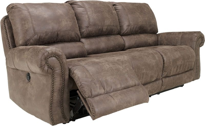 Comfortable Recliner Couches couch recliner | oberson gunsmoke reclining sofa with nail head