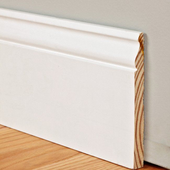 9 16 X 7 1 4 Pfj White Primed Colonial Baseboard Moldings And Trim Baseboard Styles Baseboards