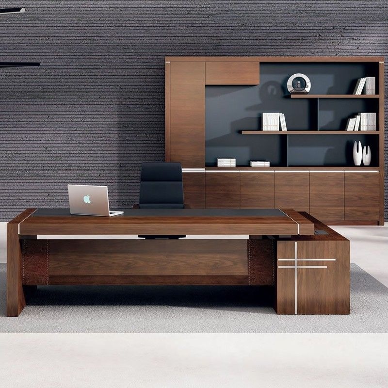 High Gloss Ceo Office Furniture Luxury Office Table Executive Desk Leather Top Office Furniture Design Executive Office Design Wooden Office Desk
