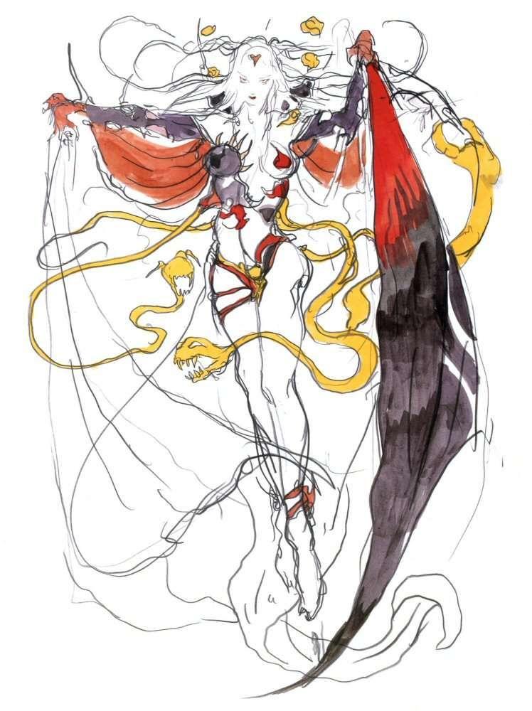 Final Fantasy 3 Snes Concept Art