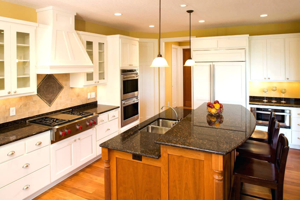 2 Level Kitchen Island Designs Google Search Kitchen Island Dimensions Farmhouse Kitchen Design Kitchen Island With Seating