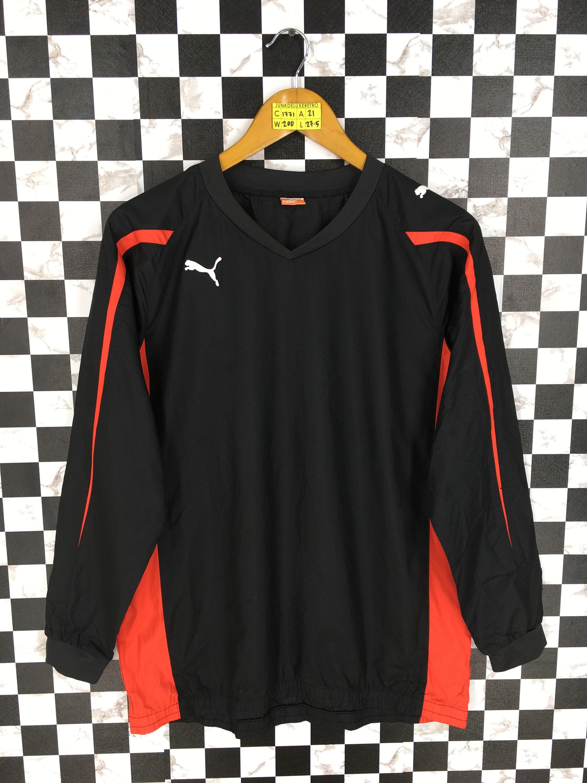 Vintage 90s Puma Windrunner Jacket Medium Mens Puma Sportswear Training Jacket Black Puma Sports Outerwear Pu Windrunner Jacket Striped Jacket Checkered Jacket [ 3000 x 2250 Pixel ]