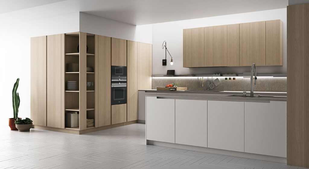 È una cucina componibile moderna, personalizzabile per finiture ...