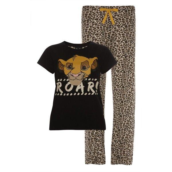ac3e8f5cd2e7 PRIMARK Lion King PJ Simba PYJAMAS ROAR T SHIRT Bottoms Sizes 6 20 ($28) ❤  liked on Polyvore featuring intimates, sleepwear and pajamas