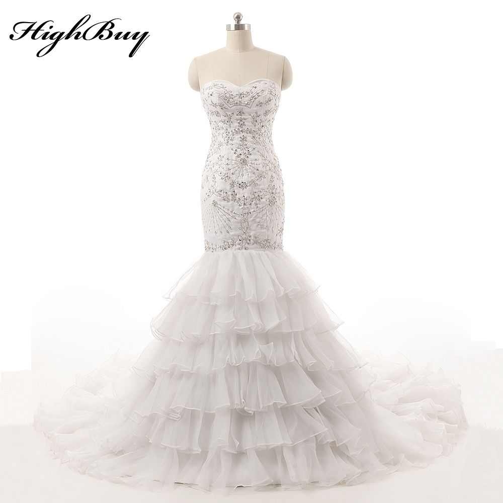 Country vintage lace wedding dresses  Click to Buy ucuc HighBuy New Vintage Country Style Mermaid Wedding