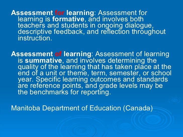 Formative Assessment Vs Summative Assessment  Formative And