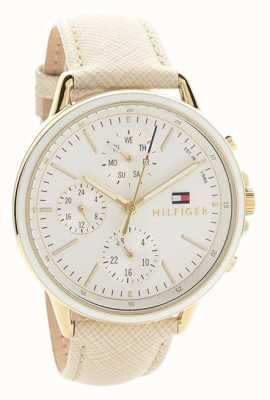 053911d40 Tommy Hilfiger Womens Carly White Leather Strap White Dial 1781790 ...