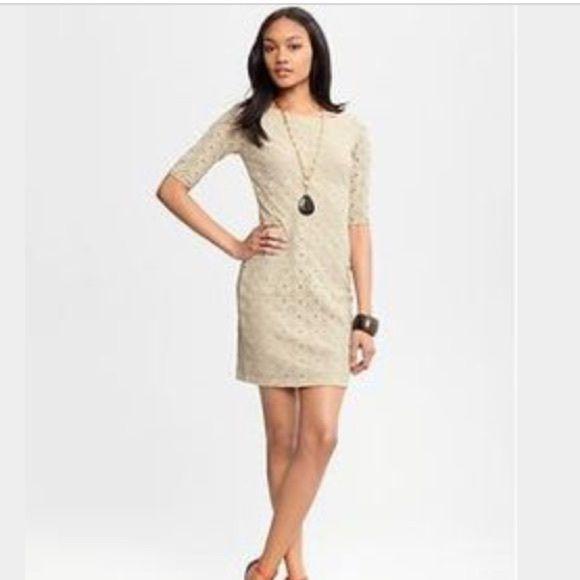 Cream color lace dress