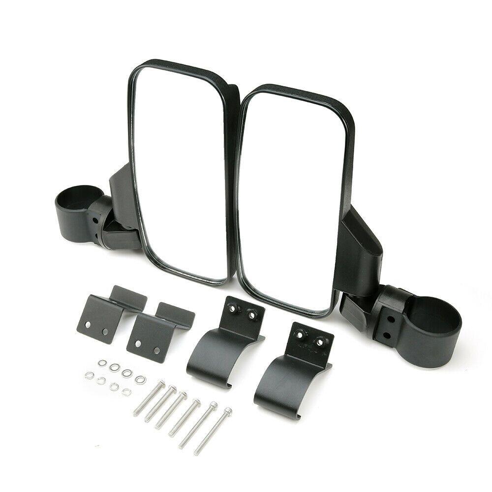"""1.75"""" Side /& Rear View Mirrors Set For Polaris Ranger RZR 800 900 1000 S 900 UTV"""
