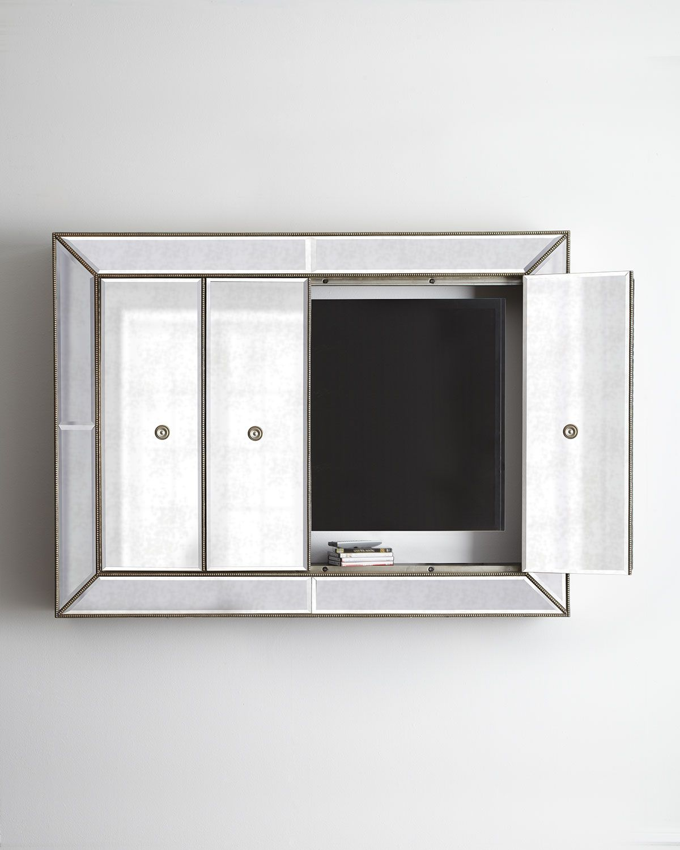 Murano Flat Screen Wall Cabinet Walls Mirror Mirror And Hide Tv