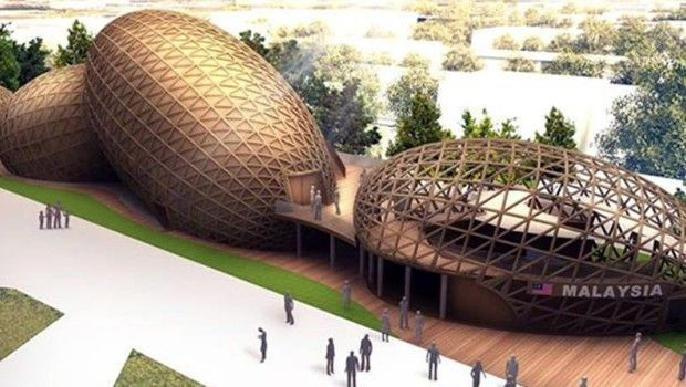 Expo 2015: Rice grains inspire the Malaysian pavilion in Milan.  #Expo2015 #Expo #Pavilion #WoodDesign #Architecture