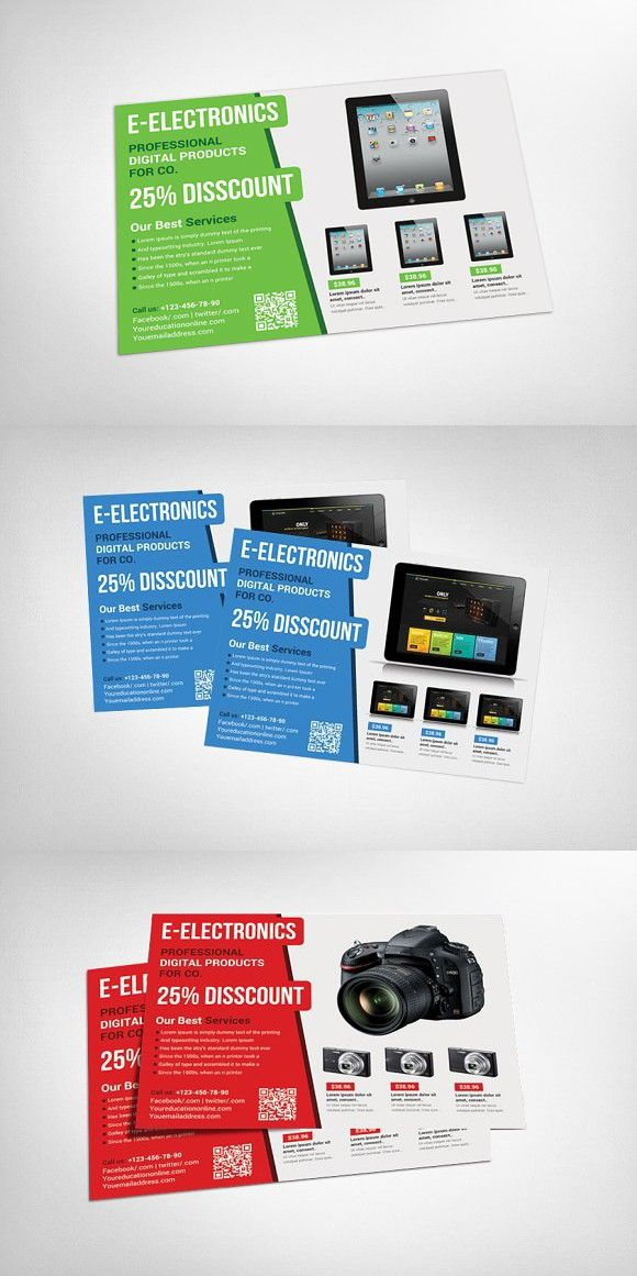 Electronic Products Flyer Template Promotion Flyer Flyer Poster