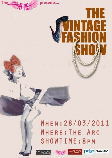 Vintage Vogue Posters Vintage Fashion Show at The Arc inspired - fashion design posters