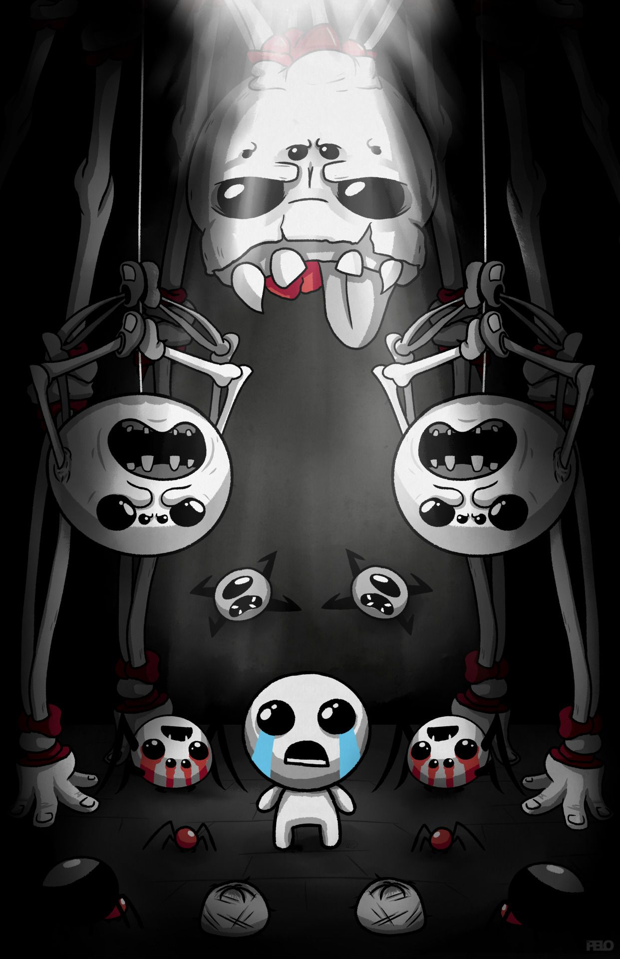 Arachnophobia Poster The Binding Of Isaac The Binding Of Isaac Isaac Game Concept Art