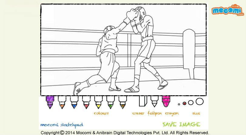 #men's boxing – free printable online #colouringpage for #