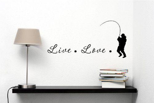 Live love fish Vinyl Decal Matte Black Decor Decal Skin Sticker Laptop Southern Sticker Company http://www.amazon.com/dp/B00FA5TY84/ref=cm_sw_r_pi_dp_omTUtb1G698RZGVW