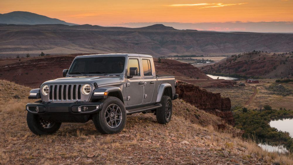 Display Grey Overland Parked Atop A Hill Jeep Gladiator Gladiator Jeep