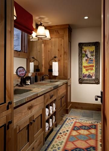 Western Rustic Cabin Bathroom Make Mine Rustic