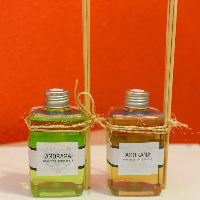 ✼ Aromatizador de Bamboo e Limão Siciliano  e  de Cha Verde com Limão Siciliano✼