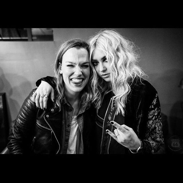 Lzzy Hale and Taylor Momsen. I cannot believe I saw them live!