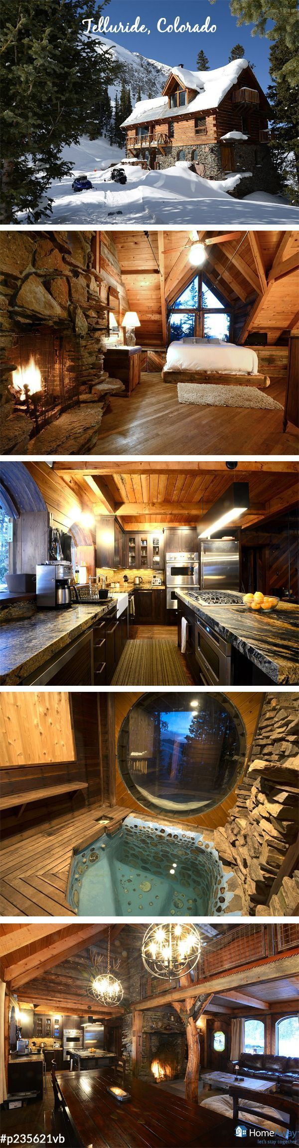 skiing your perfect Spring Break vacation? This cozy Telluride, Colorado cabin will be a perfect vacation home for you then! via