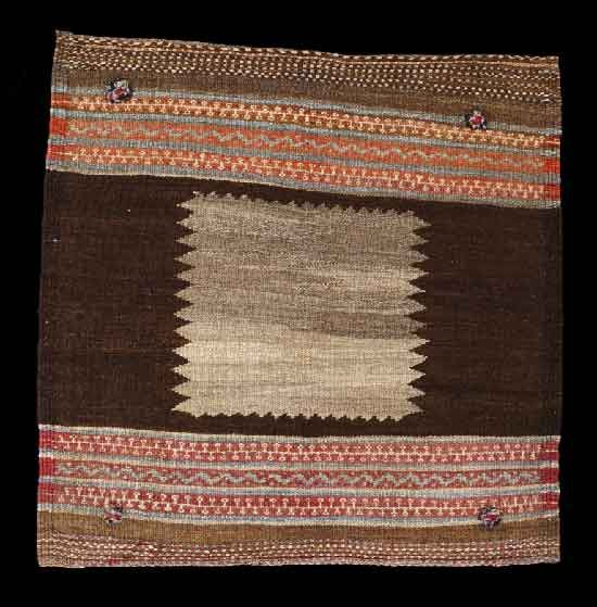 Central Persia | Sofreh Kamo (Qhorud) | Wool | First half 20th century | Sofreh (from the Arabic 'sufrah', meaning 'dinning table'), is a traditional cloth, often spread on the ground, on which to place food