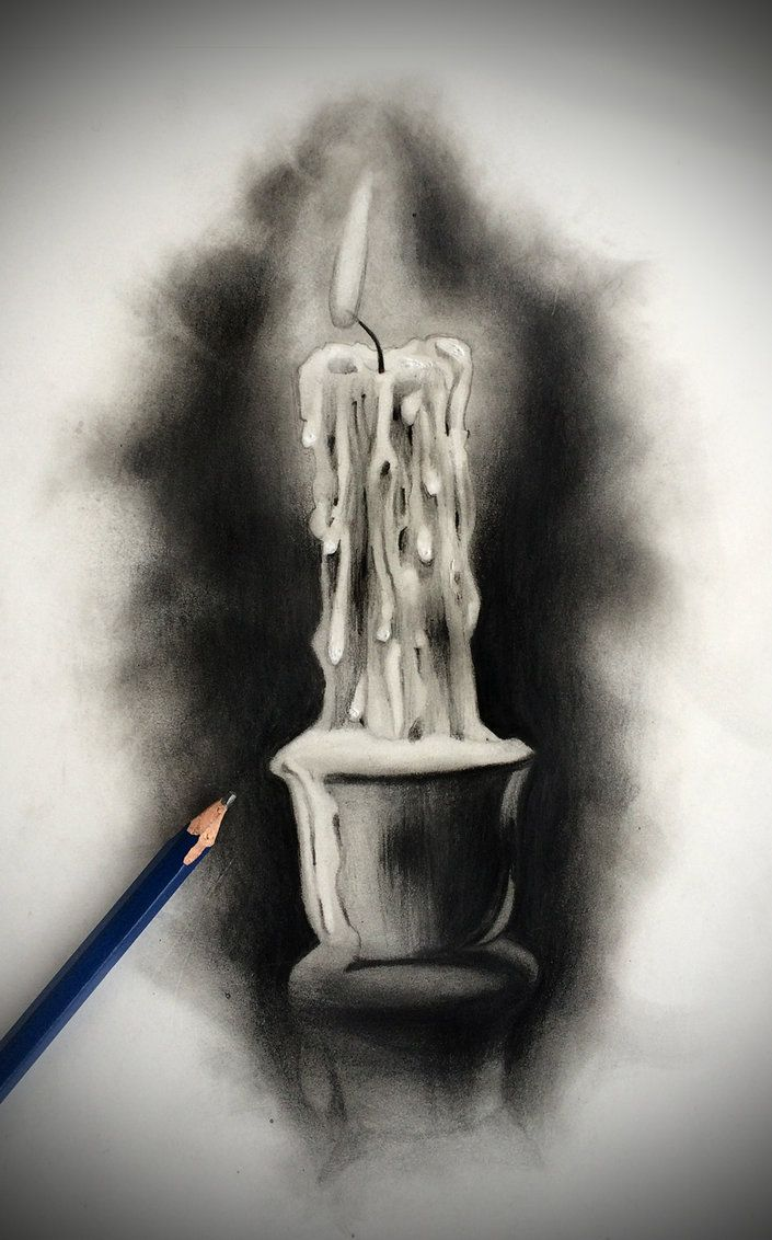 Tattoo design candle by badfish1111 on deviantart pencil