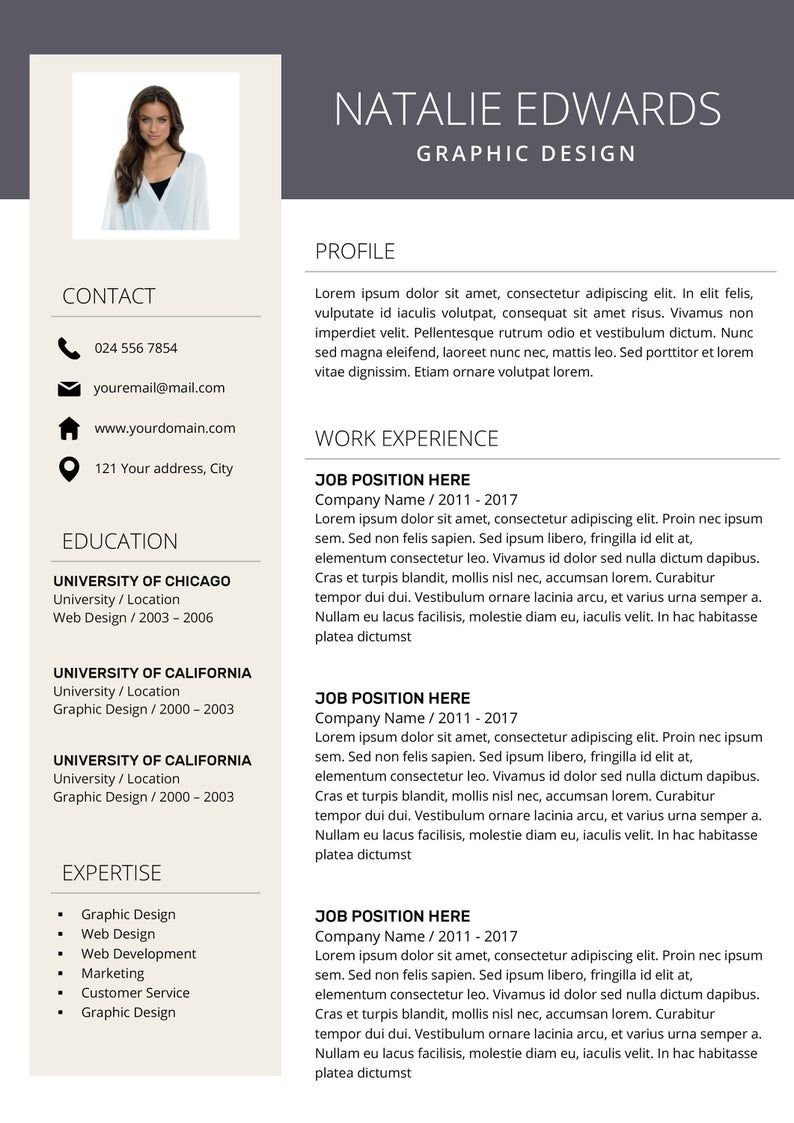 Creative Resume Template Cv Template For Ms Word And Pages Professional Resume Modern Resume Design Resume Instant Download In 2021 Creative Resume Resume Design Creative Resume Template Professional