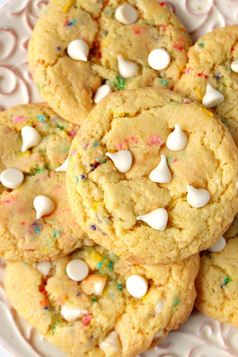 Birthday Cake Mix Cookies Recipe Pinterest Cake Mix Cookie