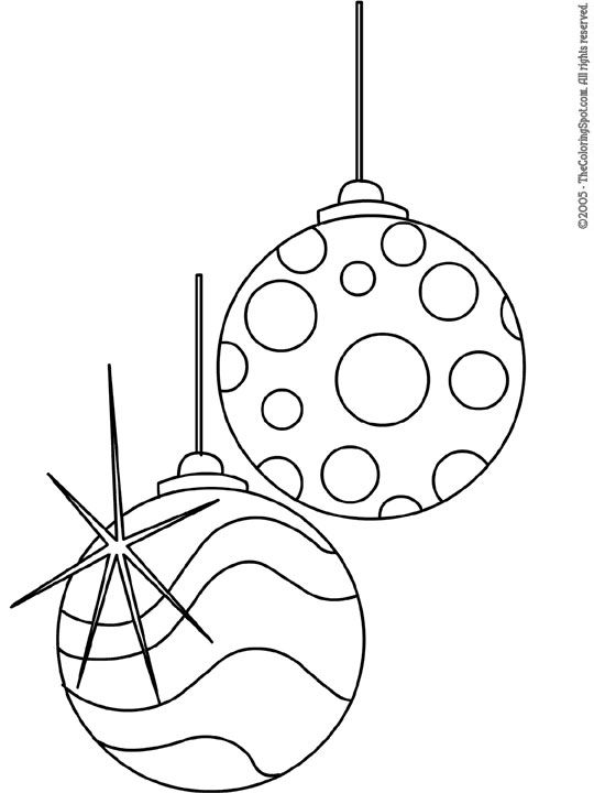 free printable christmas clip art christmas tree ornaments 4 free printable coloring pages for