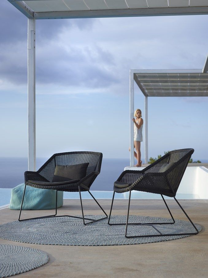 Breeze Lounge Gardenchair Cane Line | Random Side Chair Option With A Small  Side Table