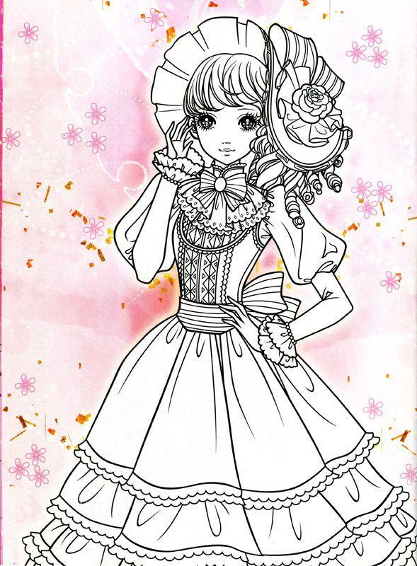 Coloriage Princess ColoringAnime PrincessAdult ColoringColoring PagesColoring BooksColouringKoreanWoodburningPrincesses