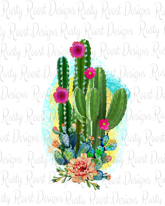 Cactus Sublimation Designs Downloads Cactus Png Watercolor Cactus