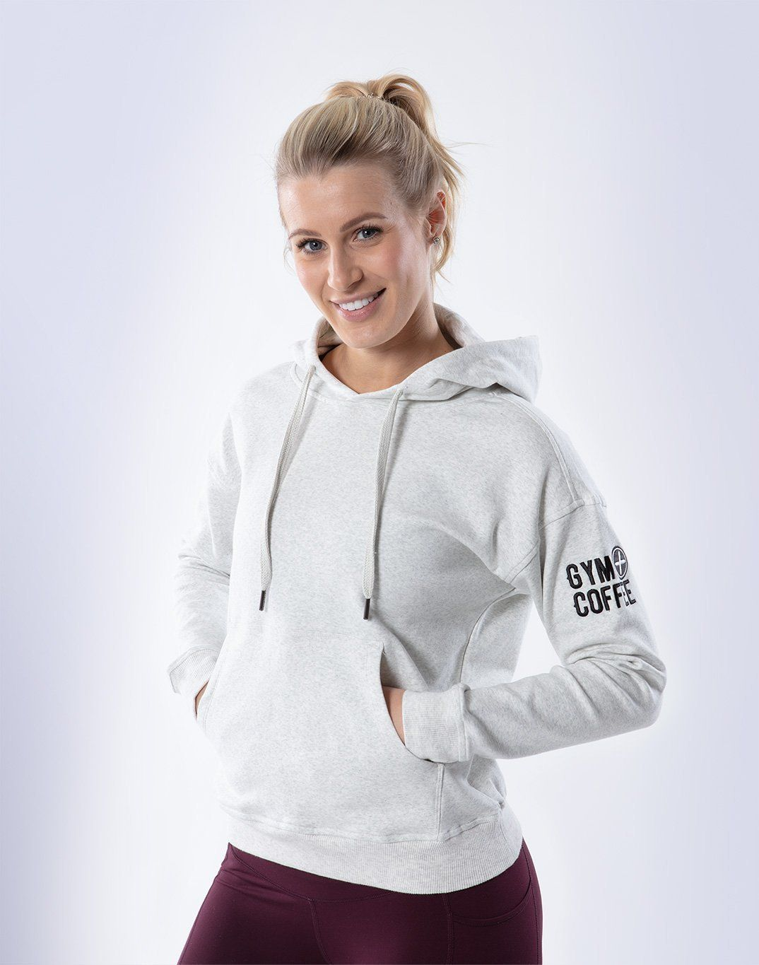 Women's Pullover Hoodie in Cream