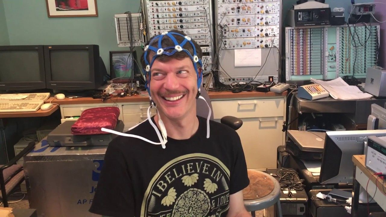 Wired Up For A Brain Scan At Heartmath Institute Brain Scan Youtube