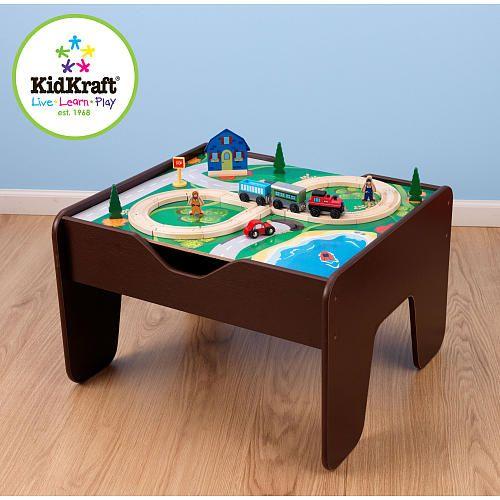 KidKraft 2 in 1 Activity Table with Board - Espresso - KidKraft ...
