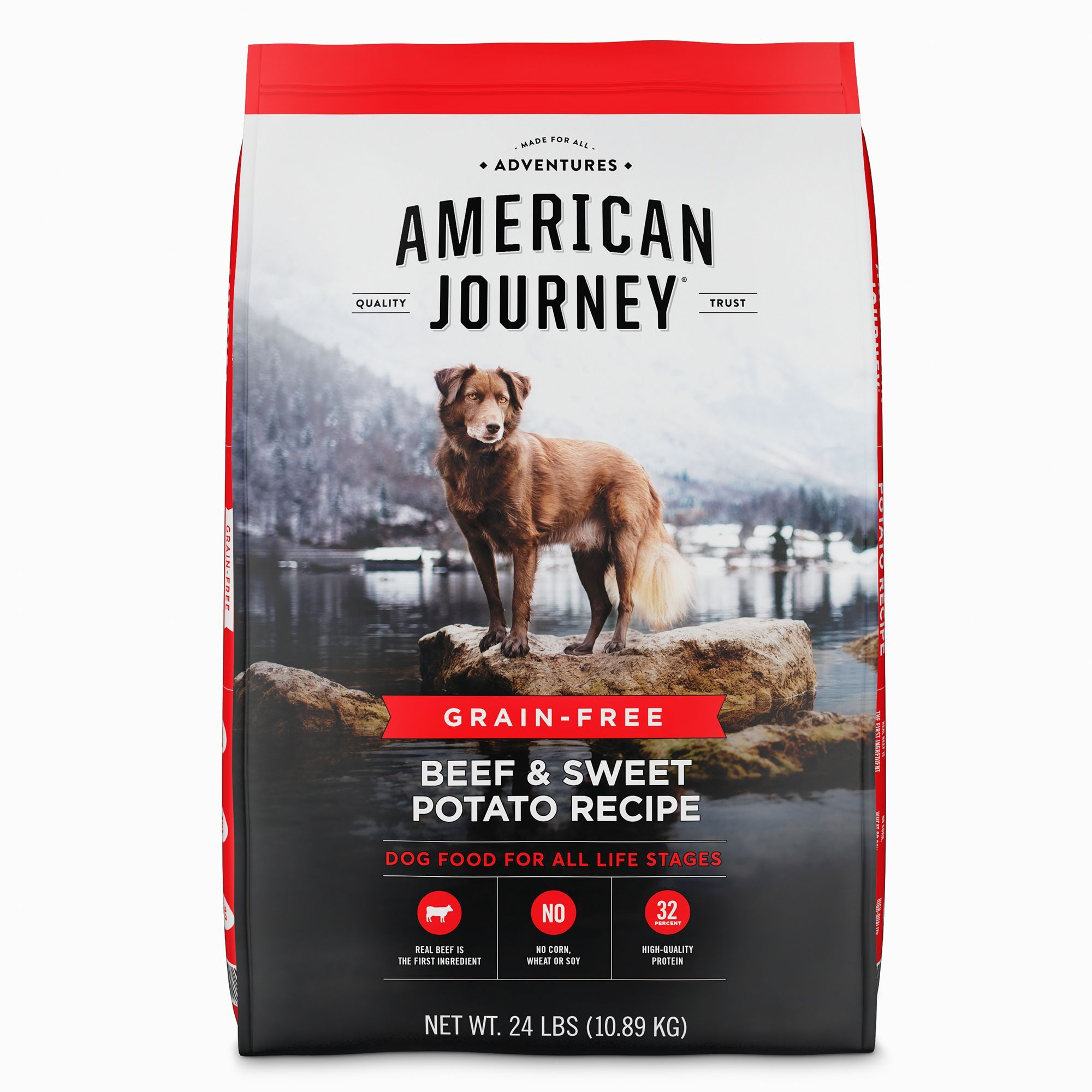 American Journey Dry Dog Food Natural Grain Free Beef And